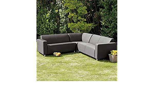 Excellent Frejus Graphite Grey Corner Sofa Amazon Co Uk Garden Inzonedesignstudio Interior Chair Design Inzonedesignstudiocom