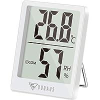 DOQAUS Mini Thermomètre Intérieur, Hygromètre Intérieur de Haute Précision, ℃/℉Commutable, pour Détecter humidité et la température, Indication du Niveau de Confort, Portable (Blanc)
