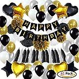 61Pack Geburtstagsdeko, Geburtstag Dekoration, happy birthday girlande, 18. Geburtstag Dekorationen für Männer,Einschließlich