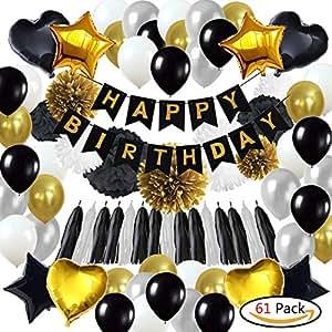 61pack Geburtstagsdeko Geburtstag Dekoration Happy Birthday