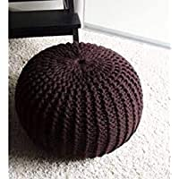 Shanky Textiles Home Pouf Puffy for Living Room Sitting Round Ottoman Bean Filled Stool for Foot Rest (Color : Coffee…