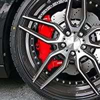 JOM 200000 Kit peinture d'étrier de frein, rouge, 1 composante, peinture d'étrier de frein 75ml, nettoyant de freins 250ml, brosse et gants