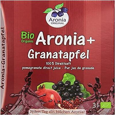 Aronia Original Bio + Granatapfel (100% Direktsaft), 1er Pack (1 x 3 l)