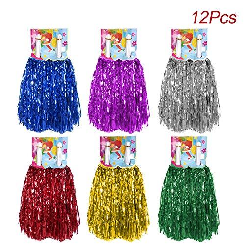 ing Pom Pom mit Baton Griff, Creatiees Cheerleading Pompons Cheerleader Puschel Tanzpuschel für Ball Tanzen Schick Kleid Nacht Party Sports(6 Farben) ()