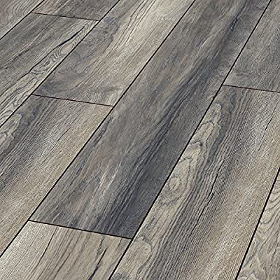 Series Woods Professional 10mm Wooden Laminate Flooring Oak Grey 1m2 - inexpensive UK flooring shop.