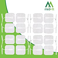 Med-Fit 1 Tens pads 16 electrodes 4 packs of the highest quality extra long lasting self adhesive Tens Electrodes size 5cm x5cm 2x 2 Med-Fit Electrodes use patented Multi stick gel for guaranteed long life by Medfit