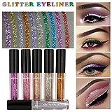 Hunpta Kosmetik Lidschatten Farbe Make-up Pro Glitter Lidschatten-Palette 6 Pcs (A)