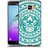 Head Case Designs Sarcelle Tiki Motifs Polynésiens Étui Coque en Gel molle pour Samsung Galaxy A3 (2016)