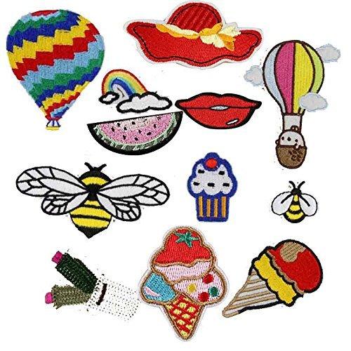 12-x-paracaidas-abeja-playa-bordados-coser-hierro-en-parches-bolsa-tela-arte-appliques