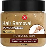 7 Days Pure Hair Removal Powder Three in one Use For Powder D-Tan Skin, Removing Hair Cream (100 gm)