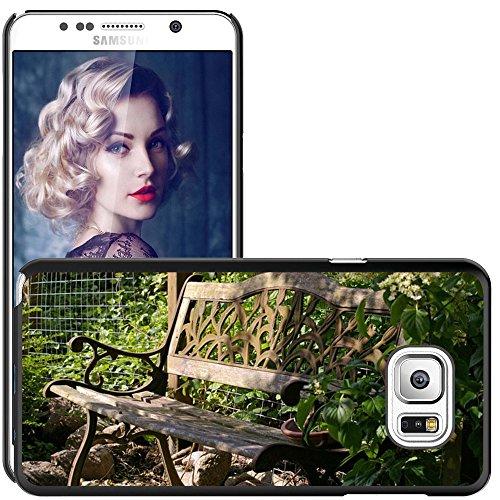 Hülle Case Schutzhülle Cover Premium Case // M00290833 Garten-Bank Bank Lehne Sitz Holz // Samsung Galaxy Note 5 V (Not fit S5)