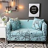 HYSENM 1/2/3/4 Sitzer Sofabezug Sesselhussen Sofaschutz Polyesterfasern elastisch farbecht anti-pilling bunt, Zweig 1 Sitzer 90-140cm