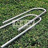 FORZA Steel Football Goal Post Anchors / U-Pegs [Heavy Duty] for FORZA/Samba/PVC Goals [NET WORLD SPORTS]