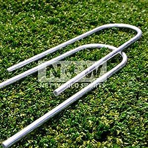 FORZA Steel Football Goal Post Anchors / U-Pegs [Heavy Duty] for FORZA & PVC Goals [NET WORLD SPORTS]