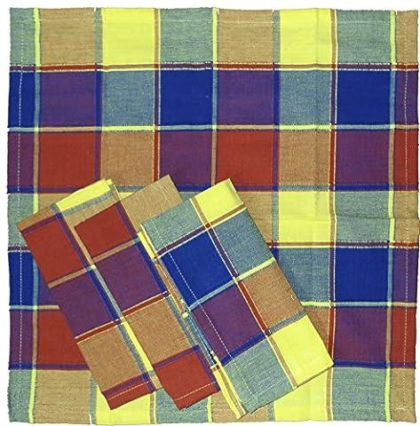 4 Stück Stoff Servietten aus Baumwolle, 40 x 40 cm,