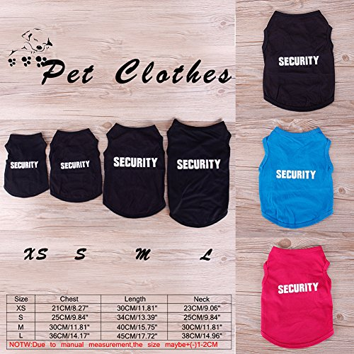 RUNGAO SECURITY Patten Cat Small Dog Puppy Vest T-Shirt Pet Clothes Summer Apparel Costumes