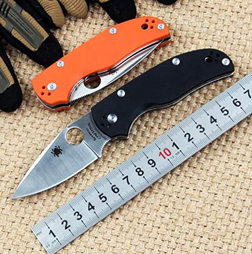 OEM SPYDERCO C41 CPM S35VN Cuchillo al Aire Libre Pocket Knife G10 Folding  Knife Premium Outdoor Knife for Outdoor Camping Hiking & Work Navajas de