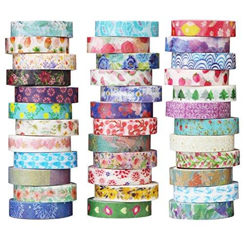 i Tape Set - Masking Tape deko Klebeband Buntes - Kreative Design Bunte Muster Papierband - Klebebänder DIY Scrapbook (Design 9065) (Washi Tape Set)