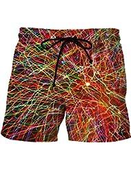 Anguang Hombre Casual Impreso Bañador Natación Tallas Grandes Playa Pantalones cortos
