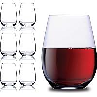 Jinelza Unbreakable Stemless Wine Glasses Set of 6 Shatterproof Glassware Homes Outdoor bar Glasses Dishwasher Safe…