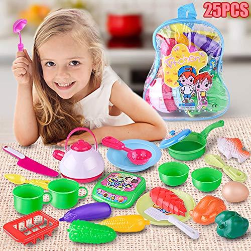 (heDIANz Kinder Kinder Küche Lebensmittel Gemüse Schneiden Pretend Rollenspiel Spielzeug)