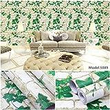 Papier Peint Auto-adhésif imperméable à l'eau de PVC Papier Peint de Mur de Fond de Chambre à Coucher européenne - 45CMX10M