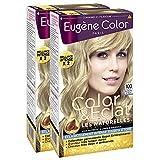 Eugène Color - Les Naturelles - N°100 Blond Très Très Clair Naturel - Crème Colorante Super-Éclaircissante - Lot de 2