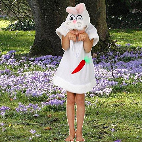 Krause & Sohn Kinderkostüm Hasen Mädchen Gr. 140 Kleid Hase weiß Hasenkostüm Fasching Osterhase (Osterhase Kostüm Mädchen)