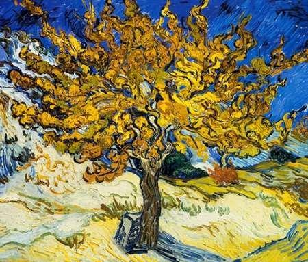 Feelingathome- imprimer-sur-toile-100%coton-L'arbre-Mulberry-1889-cm82x96-affiche-reproduction-gravure-