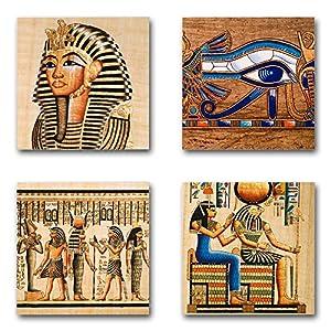 Ägypten – Set B schwebend, 4-teiliges Bilder-Set je Teil 19x19cm, Seidenmatte Moderne Optik auf Forex, UV-stabil…