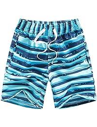 Coralup - Bañador para niños con cintura ajustable, transpirable, ligero, 12 meses a 14 años