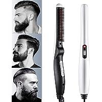 Wazdorf Quick Hair Styler for Men Electric Beard Straightener Massage Hair Comb Beard Comb Multifunctional Curly Hair…