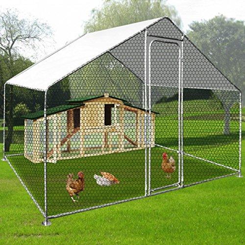 IDMarket - Enclos poulailler 6 m² parc grillagé en acier galvanisé
