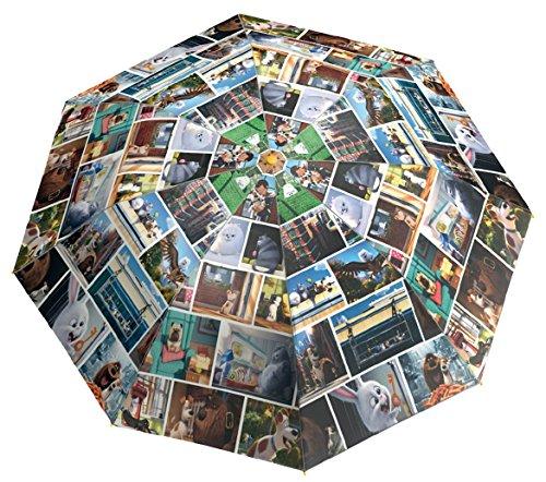 Preisvergleich Produktbild Secret Life of Pets Kinofilm Regenschirm Taschenschirm