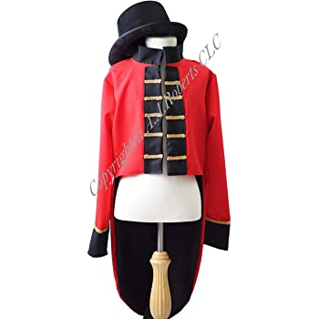 d8e6e49cb19 CL COSTUMES World Book Day-P.T Barnum-Fancy Dress THE GREATEST  SHOWMAN-RINGMASTER TAILCOAT   TOP HAT All Ages Sizes (AGE 5-6)