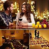 ORIA LED Kerzen mit Timerfunktion, 9 Flammenlose Kerzen Elektrische Teelichter mit Fernbedienun, Batterie & 3 Modi, Romantische Kerzen Teelicht für Weihnachten, Hochzeit, Partys, usw - 2