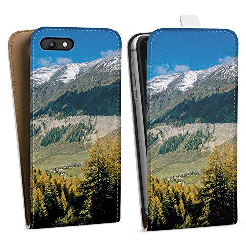 Apple iPhone X Silikon Hülle Case Schutzhülle Gebirge Huegel Landschaft Downflip Tasche weiß