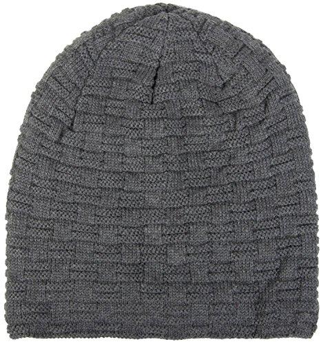THENICE Bonnet Hiver Chapeau tricoté Homme Beanie Hats Gris