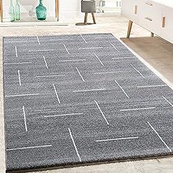 Alfombra De Diseño jaspeada en Turquesa, Gris Y Blanco, (Varias medidas) 240 x 340 cm