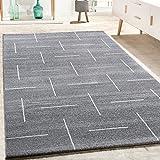 Alfombra De Diseño para Salón Moderna Jaspeada En Turquesa, Gris Y Blanco, tamaño:200x290 cm