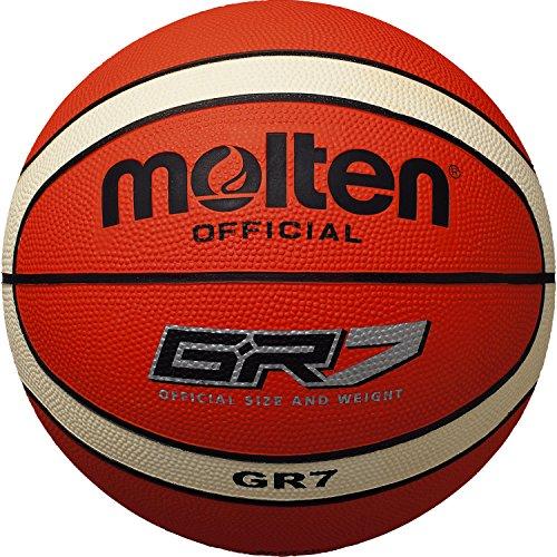 Molten Palla da basket da allenamento, nuovo design, colore: Crema/Arancione, Arancione/Crema, BGR7-OI