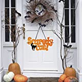 Huhuswwbin Fashion Scaredy Cat Non Woven Fabric Hanging Door Wall Sign Halloween Decoration - Scaredy Cat