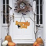 Huhuswwbin Fashion Scaredy Cat Non Woven Fabric Hanging Door Wall Sign Halloween Decoration - Scaredy Cat