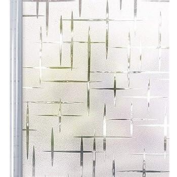 Homein Milchglasfolie Fensterfolie Milchglas Duschkabinen Blickdicht Folie Fenster Selbstklebend Sichtschutzfolie Sichtschutz Statisch Haftend Fur