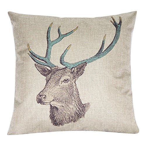 San Bodhi® Faux Linen Throw Pillow Case Cushion Cover Home Sofa Decoration