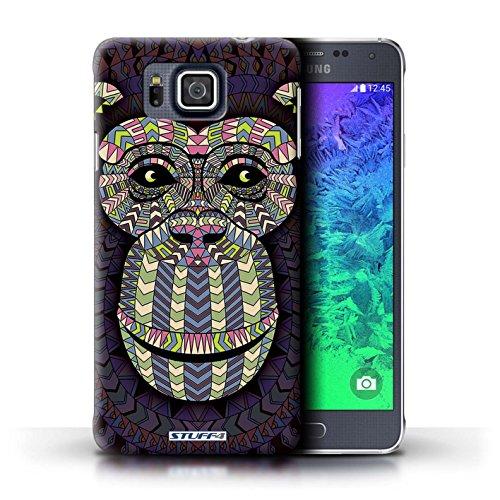 Kobalt® Imprimé Etui / Coque pour Samsung Galaxy Alpha / Loup-Rouge conception / Série Motif Animaux Aztec Singe-Couleur