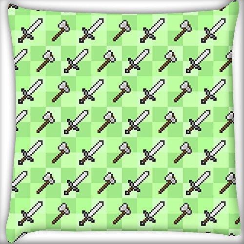 Schwert und Axt Home Decor Werfen Sofa Auto Kissenbezug Kissen Fall 25,4x 25,4cm (Red Schwert Velvet)