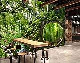Weaeo Benutzerdefinierte Wandbild 3D Tapete Magic Wald Café Kinderzimmer Hintergrund Wand Wohnkultur 3D Wandbilder Tapete Für Die Wand 3D-350X250cm