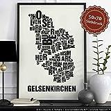Gelsenkirchen Buchstabenort Schwarz auf Naturweiß
