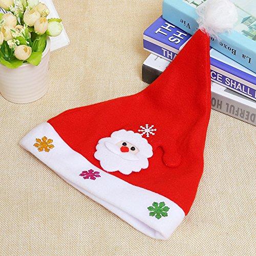 Deluxe Plüsch Santa Kostüm - KEKEDA Nikolausmütze, Weihnachtsmütze, Weihnachtsmütze, Erwachsene, Deluxe,